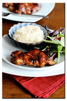 Oven Baked Teriyaki Chicken Thighs - Give the boneless skinless chicken thigh a little recipe love.. you'll have a hard time going back once you do!
