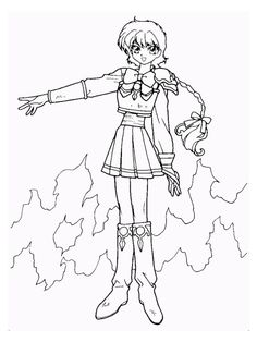 magic knight rayearth coloring page 6 a coloring book with 12000