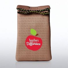 These lunch sacks really pop! Your teachers will definitely use these for their daily snacks and lunches. Each lunch bag is made of neoprene with full-color artwork and a double fold-over velcro closure. A great way to promote workplace wellness!