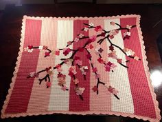Ravelry: Cherry Blossom Baby Blanket  This pin is to the webpage with the patterns. I am in AWE!