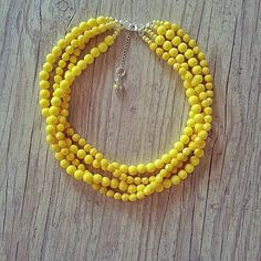 Yellow Necklaces for Bridesmaids
