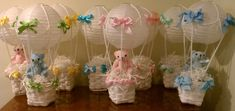 Hot Air Balloon Centerpieces for Showers by lavenderlilli on Etsy