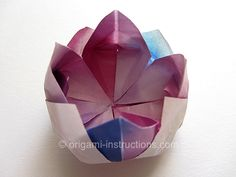 Fun Origami flowers - lotus - maybe can be used as a ring box?