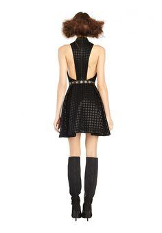 NEEDMAN MOCK NECK DRESS in BLACK by Alice + Olivia