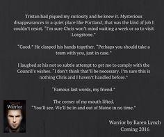 Warrior - Karen Lynch. January 2016 teaser