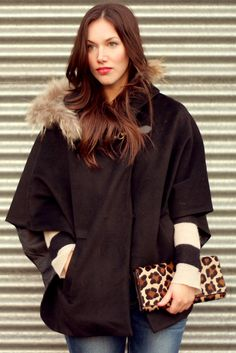 Hooded Winter Cape.