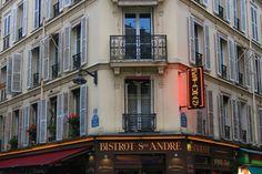 Typical Parisian architecture in the Saint Germain neighborhood