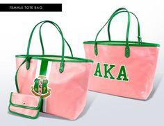 Alpha Kappa Alpha Tote Bag with Wallet