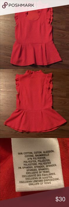 Anthropologie scoop neck top with ruffle details Anthropologie scoop neck top…
