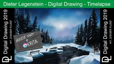 """Dieter Legenstein – Digital Painting 2019 / Picture #12 """"Eisiger Fluss"""" Photoshop, Painting & Drawing, Ink, Instagram, Drawings, Human Anatomy, Digital Paintings, River, Legends"""