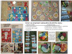 Zdravý životní styl - únor 2017 Bulletin Boards, Crafts For Kids, Biology, Projects, Crafts For Children, Kids Arts And Crafts, Bulletin Board, Kid Crafts, Craft Kids