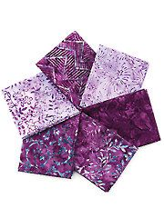 Fabric - Purple Pizazz Batik Fat Quarters - 6/pkg. - #274371