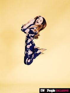 Meredith Foster got some serious air in our #VidCon photo booth!  Image Credit: Ramona Rosales/People/EW