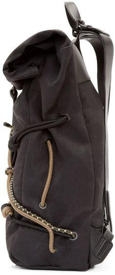 3.1 Phillip Lim Black Hiking Backpack: