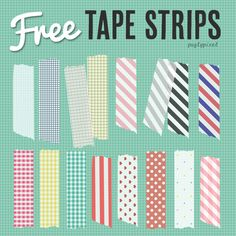 Washi tape digital gratis: recopilación | Creative Mindly