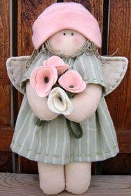 Via Madri Artesanato: Boneca com rosas