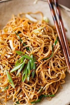 It's easy to make your favorite restaurants garlic noodles (or soy sauce pan-fried noodles) at home! It's quick and i've added veggies to make it healthy.