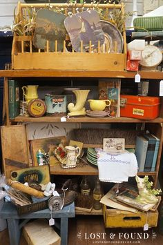 Sales have been a little slow lately in my Antique Company Mall booth space. They usually take a dip around November and start to slowly rise back up by mi Antique Store Displays, Antique Mall Booth, Antique Booth Ideas, Antique Shops, Furniture Makeover, Chair Makeover, Furniture Refinishing, Refurbished Furniture, Furniture Outlet