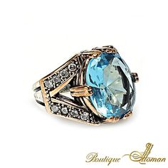 #stylish AQUAMARINE RING  #jewelry #ottoman