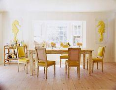 Decoração - combinar amarelo com outras cores: bege