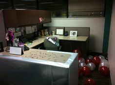 Stanley never misses an opportunity to wrap a desk, blow up balloons or spread confetti