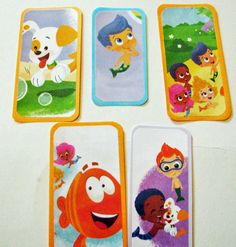 Bubble Guppies bookmarks