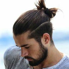 Long Hair with Top Knot and Beard