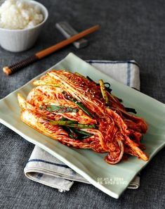 How to make rice cabbage is called rice recipe Golden recipe is easy? Rice Recipes, Asian Recipes, Cooking Recipes, Ethnic Recipes, Korean Dishes, Korean Food, Kimchi, Food Flatlay, Dinner For 2