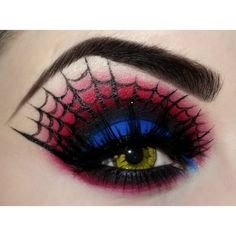 Gorgeous Geeky Eye Makeup Featuring Batman and More found on Polyvore