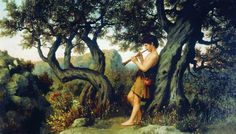 TICMUSart: A Shepherd Playing Flute - Henryk Siemiradzki (189... (I.M.)