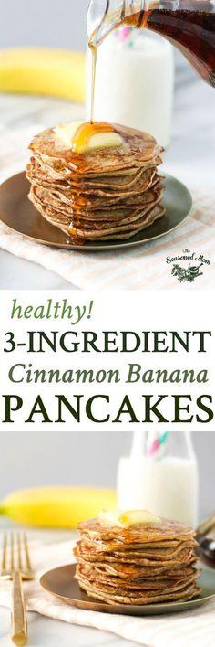 3-Ingredient Healthy Banana Pancakes | Breakfast Ideas | Breakfast Recipes | Healthy Breakfast | Healthy Recipes | Gluten Free