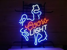 Coors Light Horse Bar Logo Classic Neon Light Sign 17 x 14