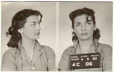 Bad babes breaking laws in beehives. From the collection of vintage mugshots of Least Wanted.