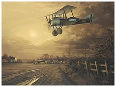 Coming Home - Aviation Art by Neil Hipkiss Aviation Artist