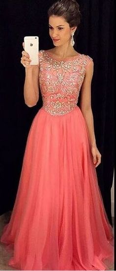 c5effa6e38d Beading Prom Dress Long Evening Dresses