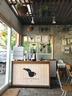 Life is too short not to live it up a little ~ Cafe Shop Design, Coffee Shop Interior Design, Bar Interior, Cozy Coffee Shop, Small Coffee Shop, Mobile Coffee Shop, Coffee Stands, Small Cafe, Restaurant Design