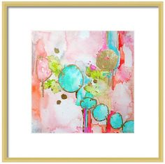 A personal favorite from my Etsy shop https://www.etsy.com/listing/153803926/watercolor-pink-abstract-art-print-pink