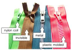 Guide to Zippers « Sew,Mama,Sew! Blog