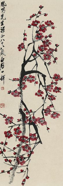 齐白石 红梅 by China Online Museum - Chinese Art Galleries, via Flickr