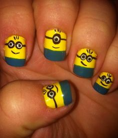 Whaaaaaa!M Despicable Me minion nails!