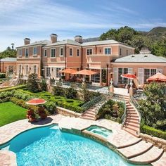Follow @luxurylifestylemagazine  A Classic #French Masterpiece located in Montecito, #California. This 10,000 sq ft #estate offers 6 bedrooms and 9 bathrooms and is listed for $16,700,000 by Village Properties