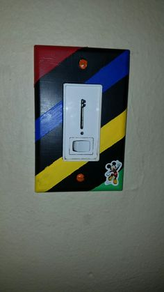 Mickey mouse playhouse light switch cover. Very easy to make