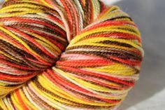 Around the Campfire - Hand Dyed Hand Painted Superwash Merino Wool Nylon (90/10 blend) Sock Yarn 4.3oz/450+yrds