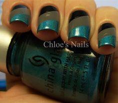 Chloe's Nails: How to do a Striped Mani Get Nails, Fancy Nails, Pretty Nails, Hair And Nails, Nail Manicure, Nail Polish, Chloe Nails, Color Block Nails, Aztec Nails