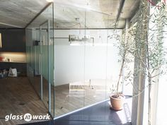 From Glass At Work: Acoustic Single Glazed Glass Office Partitioning Glass Office Partitions, Glass Partition Wall, Glazed Glass, Glass Room, Window Film, Office Interiors, Glass Panels, Acoustic, Minimalism