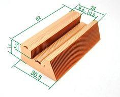 Fast Free Ship All Copper fins Copper heat sink Heat pipe fins 60*30.5*14mm fins DIY Extended shortened heat pipe #Affiliate