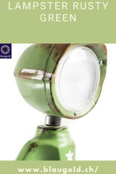 Color=Green Description  The LED lamp LAMPSTER is a mix of action figure and vintage headlights Made entirely from recycled materials and built by hand! Switch on / off by touch or touch sensor on the head Adjustment of brightness and color using a smartphone 360 ° rotating head and adjustable angle Solid and built to last; rustproof and resistant to water splashes. #lamp #homedecor #design