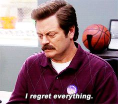 Welcome to Pawnee Gif Library, Ron Swanson, Literally Me, Mess Up, Parks And Recreation, Regrets, Just Go, People, Kids