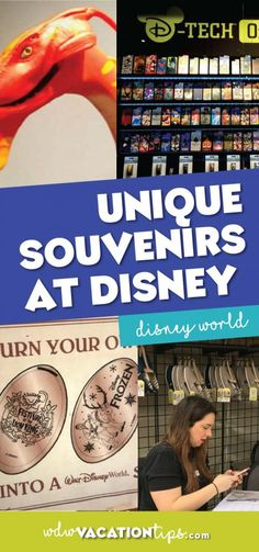Part of the fun of any vacation is picking out a souvenir to bring back home. This is especially true at Disney World and there certainly are no shortages of options to choose from. It can seem like every ride you get off of ends in a gift shop. Let\'s take a look atunique souvenirs you will find at Disney World.