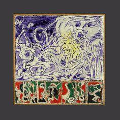 Lointaine Islande, 1982 – 2000 Oeuvre executé  sur carte de géographie    145 x 145 cm